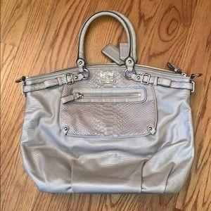 Pink & Silver Coach Shoulder Bag